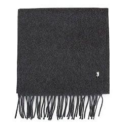 Мужской классический шарф с бахромой, графит, 91-7M-X03-88, Фотография 1