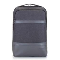 Мужской рюкзак для ноутбука 13/14 дюймов с панелью из экокожи, графит, 92-3P-504-1, Фотография 1