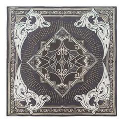 Шелковый шарф большой, графит - серый, 91-7D-S31-X5, Фотография 1