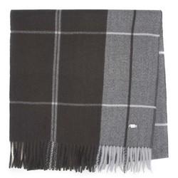 Мужской классический широкий шарф, графит - серый, 92-7D-X91-1, Фотография 1
