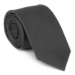 Шелковый костюмный галстук, графит, 92-7K-001-8, Фотография 1