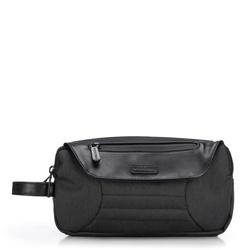 Kosmetická taška, grafitovo-černá, 89-3P-112-1D, Obrázek 1