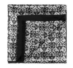 Pánská šála, grafitovo-stříbrná, 85-7M-X01-X1, Obrázek 1