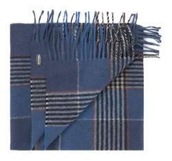 Herren-Halstuch, grau-dunkelblau, 83-7M-W01-X01, Bild 1