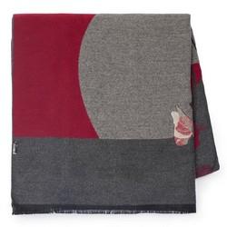 Damen Schal, grau - dunkelrot, 87-7D-X01-X2, Bild 1