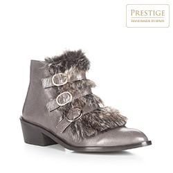 Frauen Schuhe, grau, 87-D-463-8-37, Bild 1