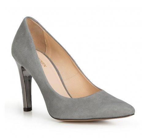 Damenschuhe, grau, 90-D-200-8-40, Bild 1