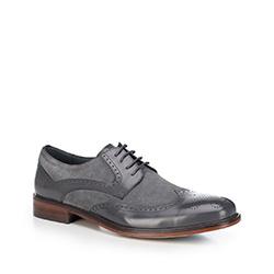 Männer Schuhe, grau, 88-M-804-8-45, Bild 1