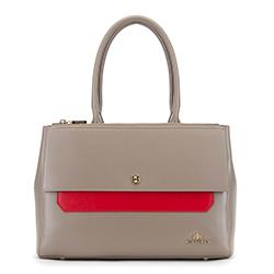 Einkaufstasche, grau-rot, 90-4E-357-8, Bild 1