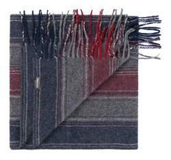 Herren-Halstuch, grau-rot, 83-7M-W03-X01, Bild 1