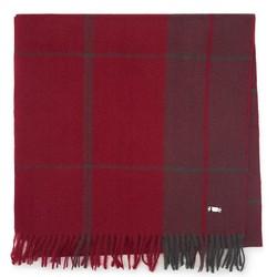 HERREN-SCHAL MIT FRANSEN, grau-rot, 92-7D-X91-3, Bild 1