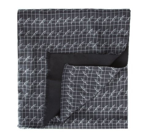 Herren-Halstuch, grau-schwarz, 84-7M-X01-X02, Bild 1