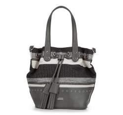 Hobo Tasche, grau-schwarz, 87-4Y-355-8, Bild 1