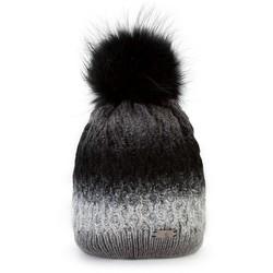Mütze für Frauen, grau-schwarz, 87-HF-001-8, Bild 1