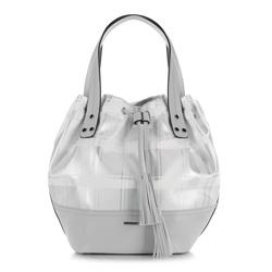 Einkaufstasche, grau-silber, 90-4Y-751-0, Bild 1