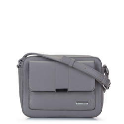 Umhängetasche für Damen mit geometrischer Tasche, grau, 92-4Y-207-8, Bild 1
