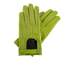 Damenhandschuhe, grün-beige, 46-6-271-7T-L, Bild 1