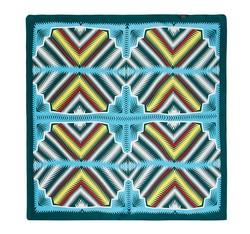 Frauen Halstuch, grün - blau, 86-7D-S13-X3, Bild 1