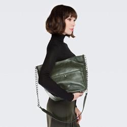 Einkaufstasche, grün, 86-4E-376-Z, Bild 1