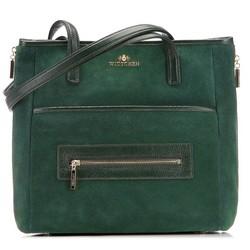 Einkaufstasche, grün, 87-4E-218-Z, Bild 1