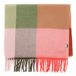 KARIERTER DAMENSCHAL MIT FRANSEN, grün-rosa, 91-7D-X02-X1, Bild 1