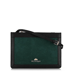 Schultertasche, grün-schwarz, 89-4E-406-Z, Bild 1