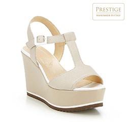 Frauen Schuhe, hellbeige, 84-D-100-8-37_5, Bild 1