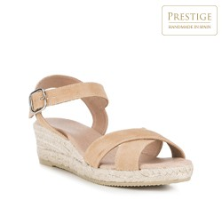 Frauen Schuhe, hellbeige, 88-D-504-9-39, Bild 1