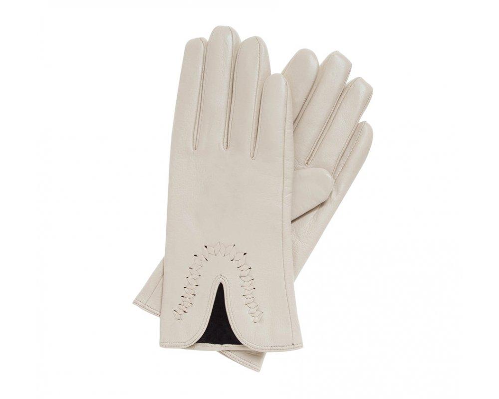 40e57d38244bb2 Wärmende Damenhandschuhe aus echtem Leder WITTCHEN | 39-6-552 | WITTCHEN