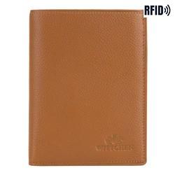 Vertikale Herrenbrieftasche aus Leder, hellbraun, 02-1-265-5L, Bild 1
