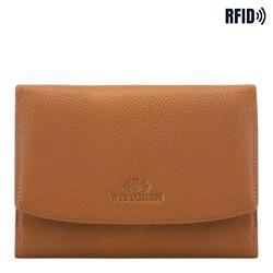 Damen -Geldbörse aus Leder, hellbraun, 02-1-062-5L, Bild 1