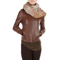 Dámská bunda, hnědá, 79-09-904-5-L, Obrázek 1