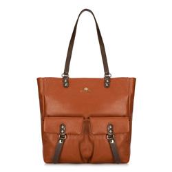 Dámská kabelka, hnědá, 89-4E-355-4, Obrázek 1
