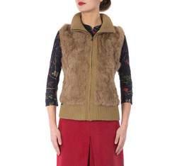 Dámská vesta, hnědá, 81-9F-002-9, Obrázek 1