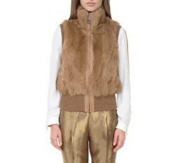 Dámská vesta, hnědá, 83-9F-504-5-S, Obrázek 1