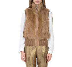 Dámská vesta, hnědá, 83-9F-504-5-XL, Obrázek 1