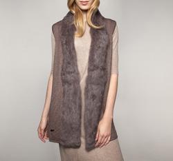 Dámská vesta, hnědá, 85-9F-002-4, Obrázek 1