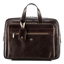 Kožená taška na notebook, hnědá, 10-3-314-4, Obrázek 1