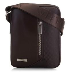Pánská kožená nylonová taška, hnědá, 91-4U-202-4, Obrázek 1