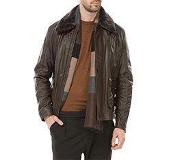 Pánská bunda, hnědá, 83-09-551-4-M, Obrázek 1
