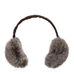 Dámské klapky na uši, hnědo-béžová, 93-HF-016-9, Obrázek 1
