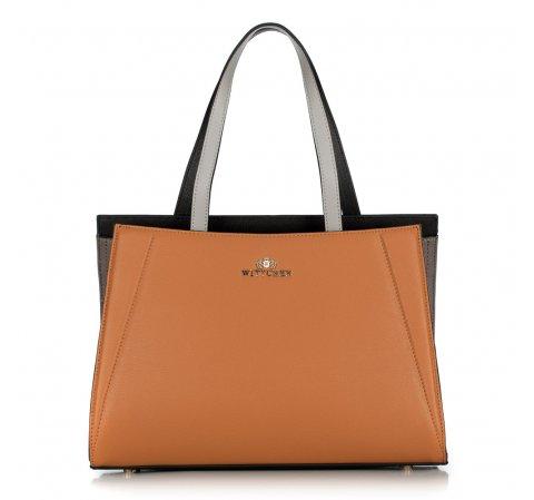 Dámská kabelka, hnědo-černá, 89-4E-506-8, Obrázek 1