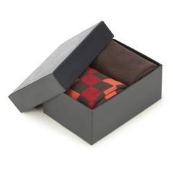 Sada pánských ponožek, hnědo-oranžová, 90-SK-002-X3-40/42, Obrázek 1