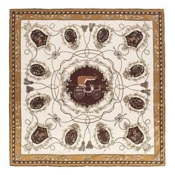 Dámský šátek, hnědo-zlatá, 87-7D-S31-X1, Obrázek 1