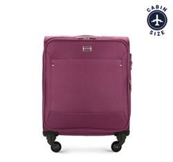 Kabinbőrönd egyszínű, lila, 56-3S-531-44, Fénykép 1