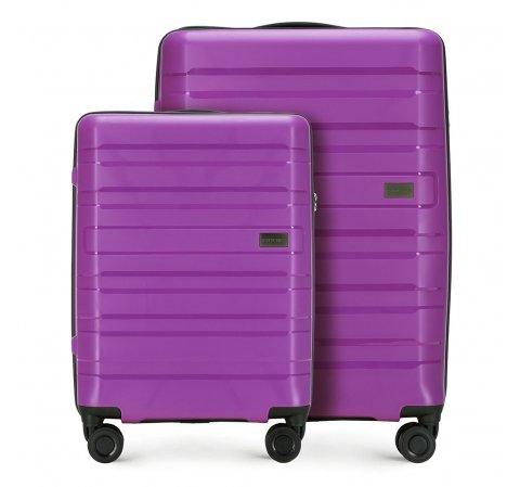 Kis bőrönd + Közepes bőrönd, lila, 56-3T-751_2-30, Fénykép 1