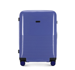 Közepes bőrönd, lila, 56-3H-572-24, Fénykép 1
