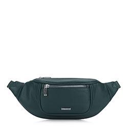 Женская сумка на пояс с широким фронтом, изумрудный, 91-4Y-307-Z, Фотография 1