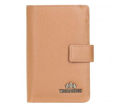 Женский кожаный кошелек на кнопке, верблюд, 13-1-047-RB, Фотография 1