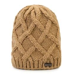 Dámská čepice, karamelová, 89-HF-019-5, Obrázek 1
